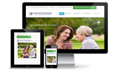 website design for threparapst and physiologist