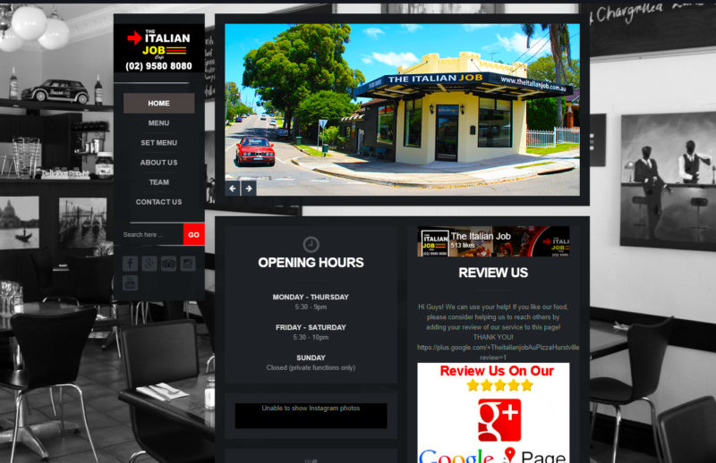 Restaurant Website Design St George Web Design Sydney