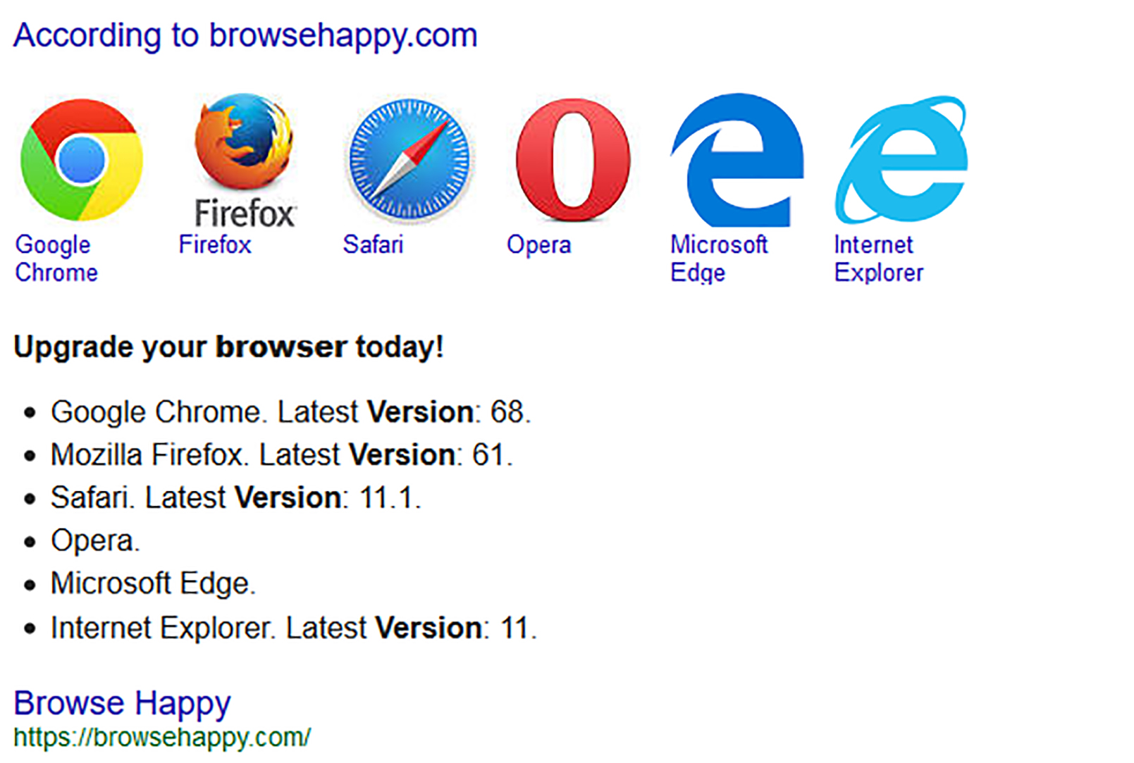Browsers For Your Website