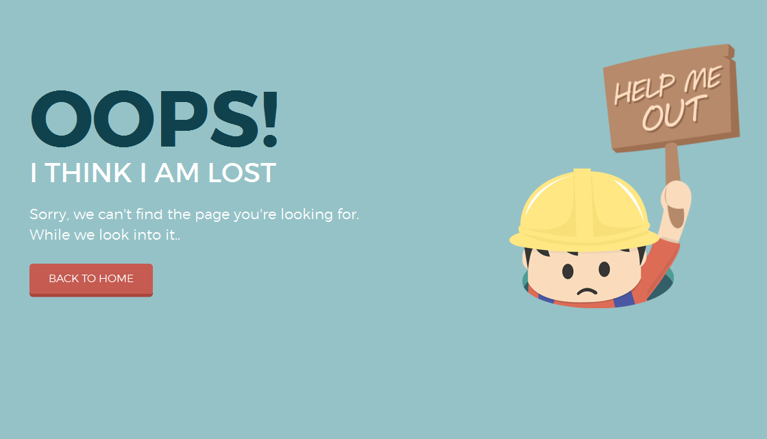 Awesome Funny 404 Error Pages
