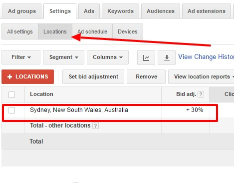 PPC location bid adjustments – Google AdWords