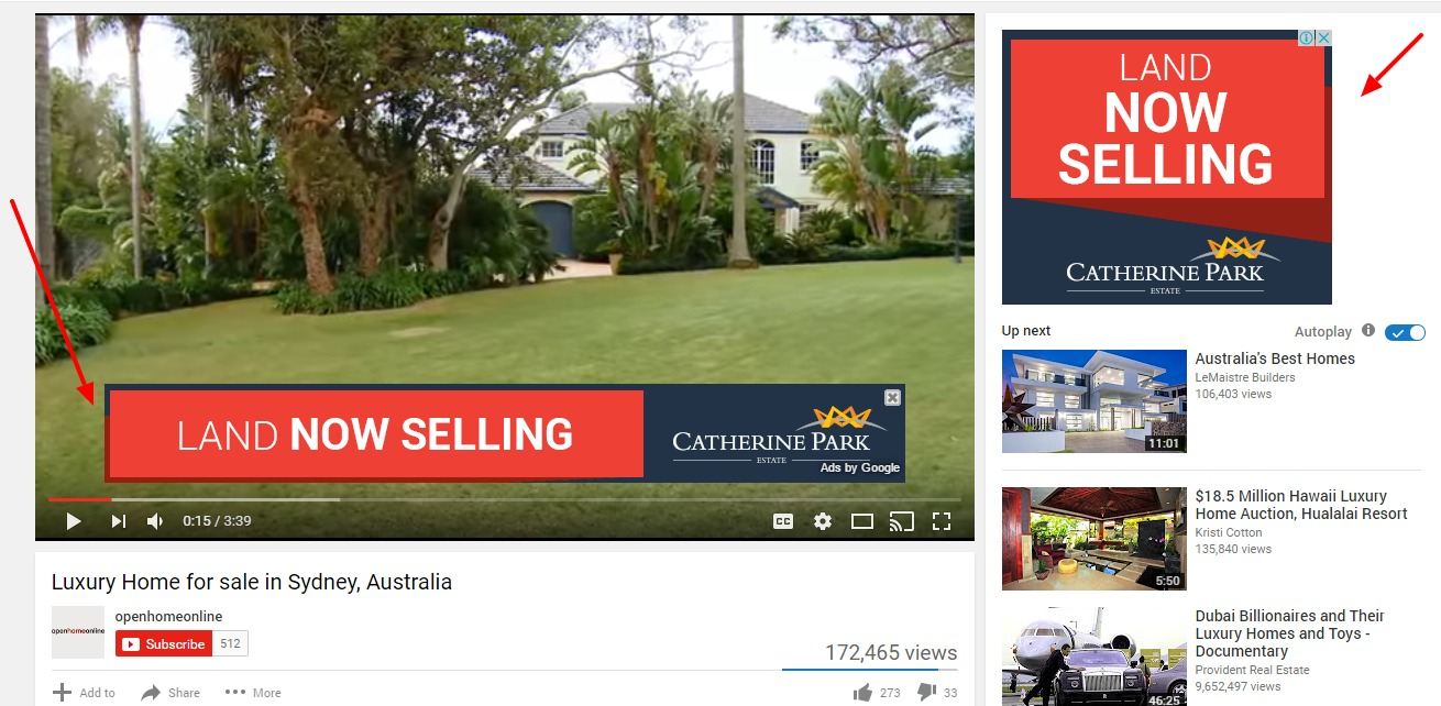 in-video PPC ads Sydney YouTube